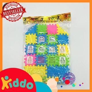 [đồ chơi trẻ em] Bộ đồ chơi xếp hình ngôi nhà