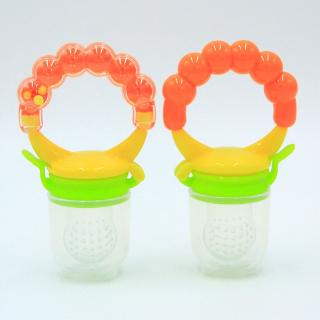 CRY Baby Food Fruit Milk Shake Feeder Safety Silicone Feeding Pacifier Ring Nipple