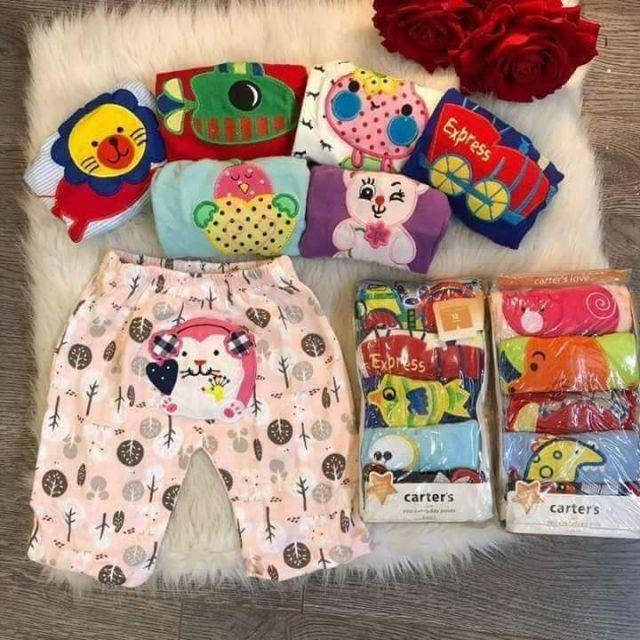 Set 5 quần lửng mông thú cho bé gái 3-6thang