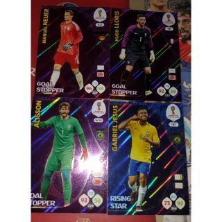 (50k/1) Thẻ insert panini world cup 2018 ( thẻ cầu thủ )