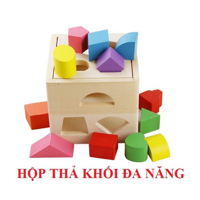 Đồ chơi hộp thả khối đa năng cho bé