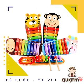 Đồ chơi đàn gỗ Xylophone 8 Quãng hình con vật đáng yêu Cho Bé – Đảm bảo an toàn