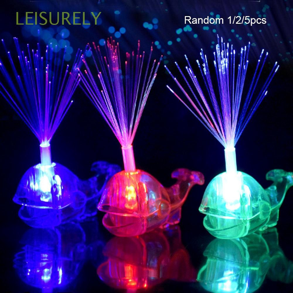 1/2/5Pcs Random color Christmas Gift Brain Development Bright Halloween Party Gadgets Glow Beams Whale Finger Light