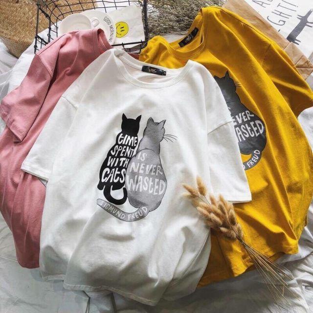 ? Áo Thun Mèo Form Rộng Cực Xinh