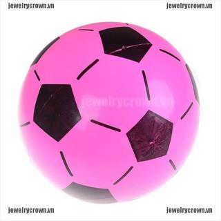 [Crown]1PC Inflatable PVC Football Soccer Ball Kids Children Beach Pool Sports Ball Toy [VN]