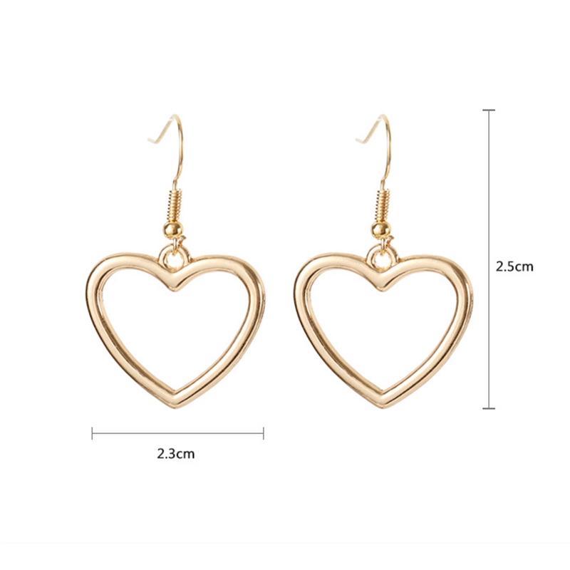 Bông tai hình trái tim thiết kế đơn giản đẹp mắt
