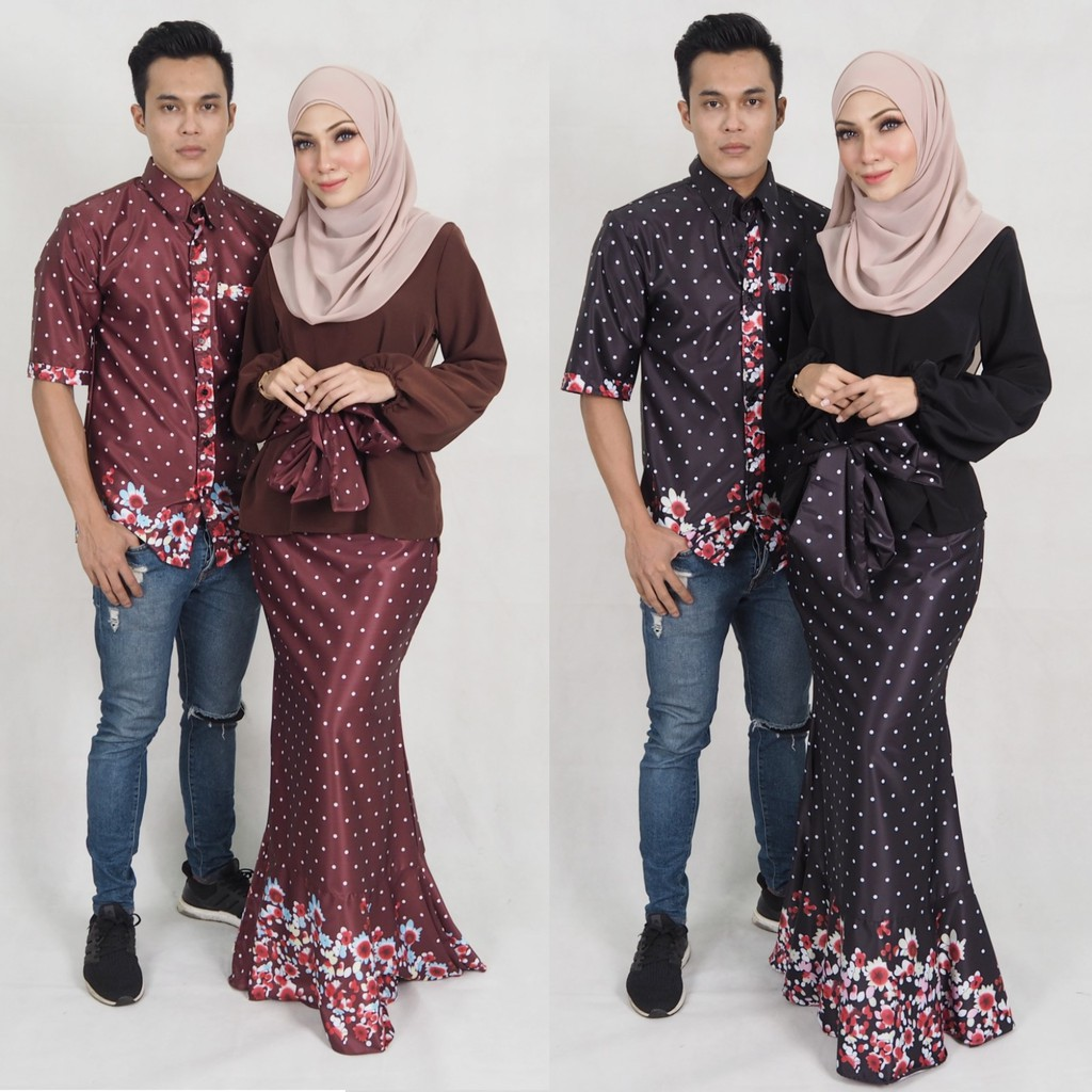 Xxs 10xl Couple Set Muslim Men Shirt Women Baju Kurung Moden Plus Size Nursing