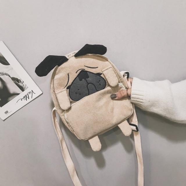 Túi đeo chéo mini hình chó mặt sệ cực dễ thương