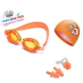 Bộ Kính bơi trẻ em hình cua, Mũ bơi ngộ nghĩnh, Bịt tai kẹp mũi POPO Collection chống tia UV, chống sương mờ thumbnail