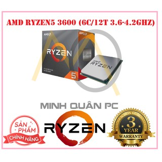 CPU AMD Ryzen 5 3600 (6C/12T, 3.6 GHz – 4.2 GHz, 32MB) – AM4