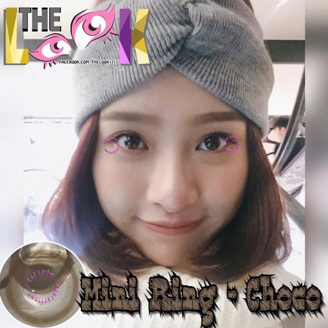 Contact Lens - Mini ring Choco + Khay Gương