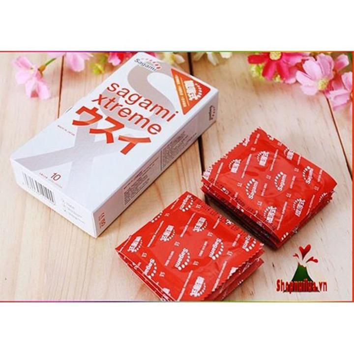 [Hàng Chính Hãng] Bao cao su siêu mỏng Sagami Extreme hộp 10 cái
