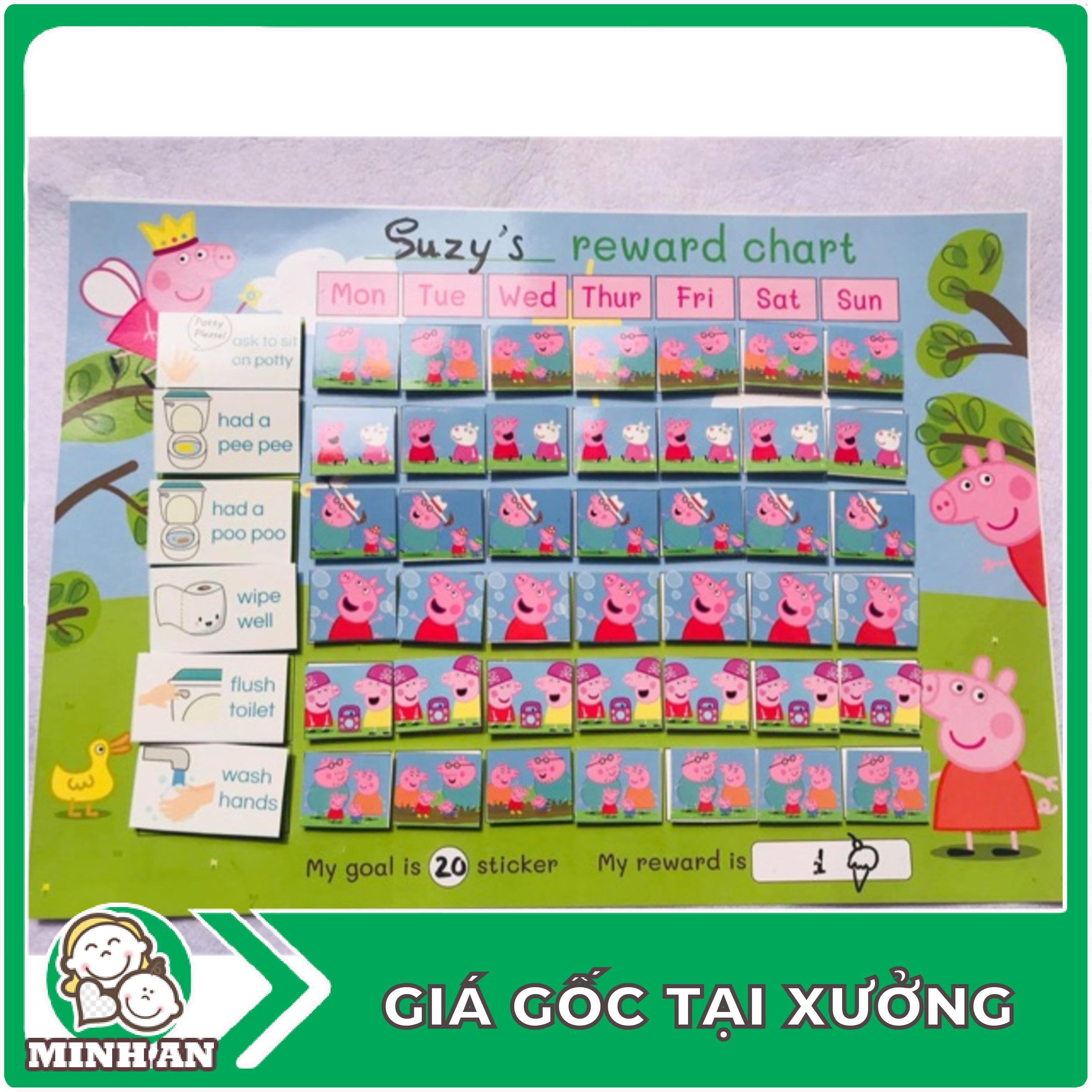 ❀ ❀ Bảng thành tích khen thưởng – Reward chart cho bé – Bộ đồ chơi cho bé ❀ ❀