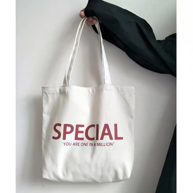 Túi tote vải bố đựng đồ canvas Special siêu dễ thương đi học đi chơi