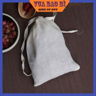 Túi Lọc Nấu Ăn Vải Bông Tự Nhiên Có Dây Rút 30x40cm(2 túi/sp)