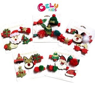 Set 5 Kẹp Tóc Noel Siêu Xinh, Quà Tặng Noel, Giáng Sinh Cho Bé