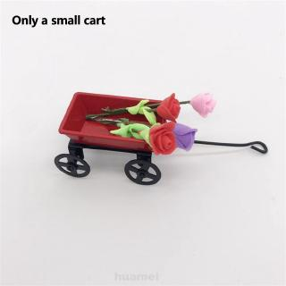 1:12 Home Decorative Kids Gift Bedroom Portable Garden Furniture Doll House Mini Pulling Cart