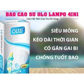 Bao Cao Su OLEO LAMPO 4 IN 1 Gai, gân, ôm sát, kéo dài thời gian, hộp 1 thumbnail