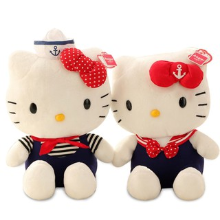 Hello kitty doll plush toy navy kitty cat KT doll doll birthday gift children