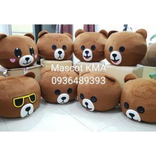 Thuê quần áo hoá trang Mascot Hà Nội Gấu Brown
