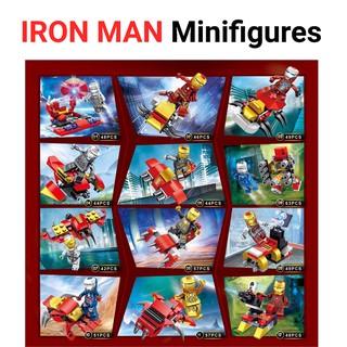Lego Iron Man Minifigures 12 nhân vật JX 2018