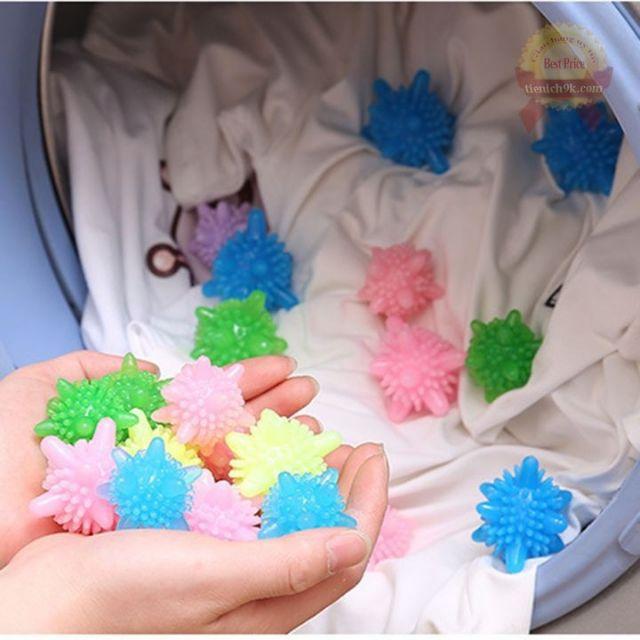 Combo 10 quả cầu gai giặt quần áo