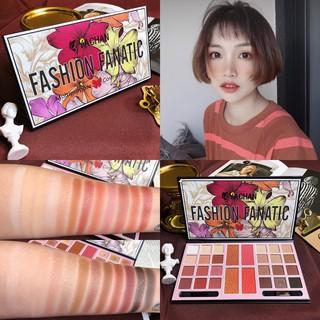 [YACHAN] Bảng phấn mắt Yachan Fashion Fanatic Multilpurpose kiềm phấn má má hồng có nhũ kiềm cọ trang điểm