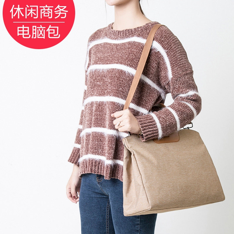 ✹¤Computer bag Female Apple MACBOOKPRO13.3/14 inch portable single shoulder Xiaomi air Lenovo Dell Asus notebook docum
