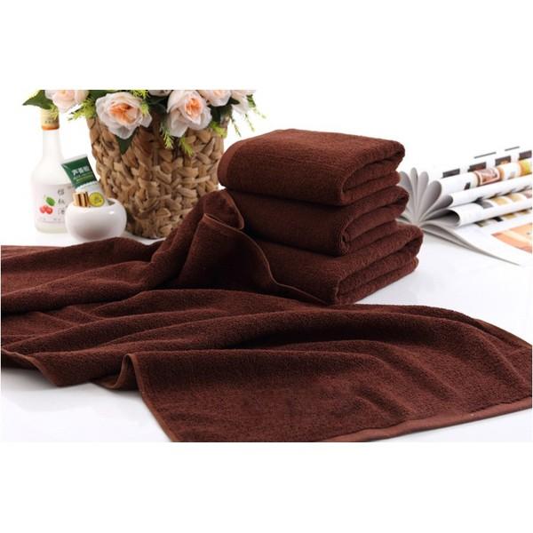 Bộ 2 Khăn trải giường cao cấp cho spa 90 * 180 cm ( Nâu)