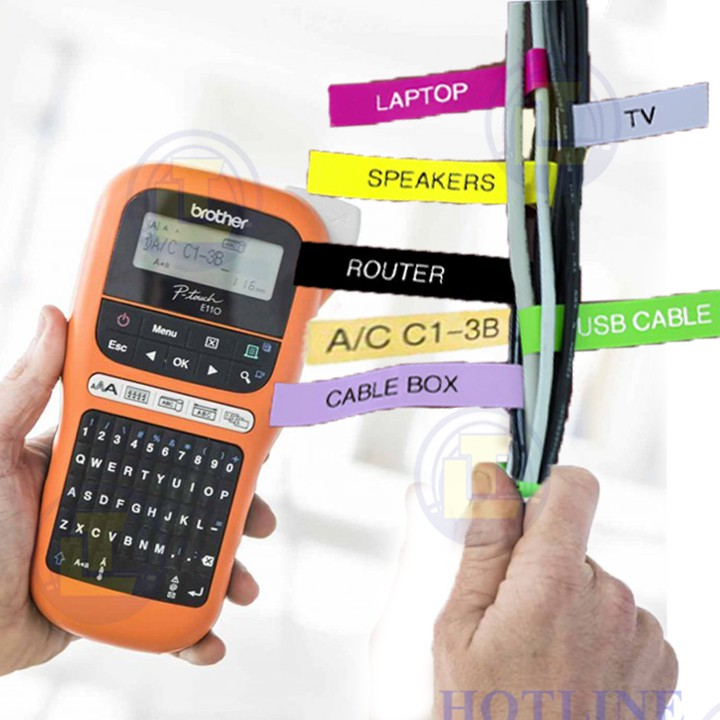 """Máy in nhãn Brother P-Touch PT-E110 """"Tặng 01 cuộn nhãn tiêu chuẩn TZ2-9mm và 12mm"""" Giá chỉ 1.116.000₫"""