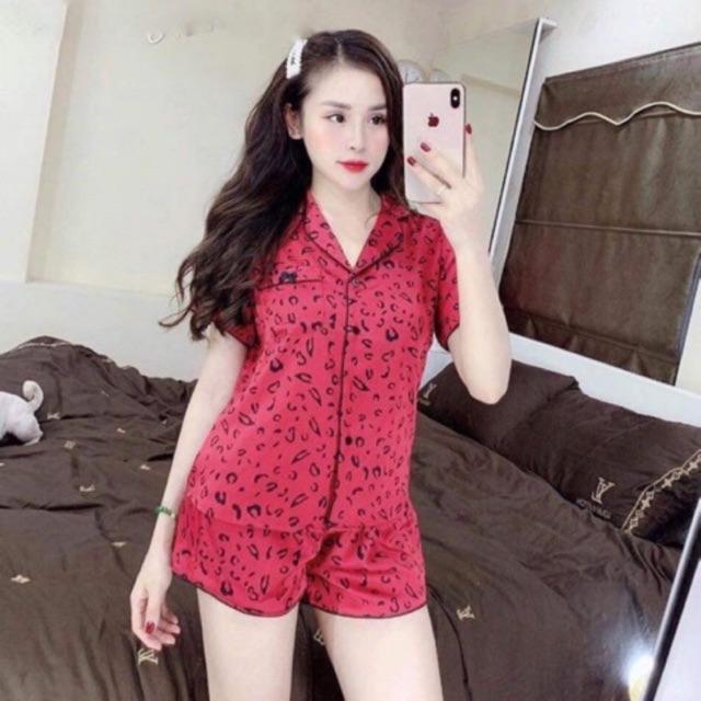[Mã WA2710 giảm 10k đơn 99k] Bộ Pijama Tay Cộc Quần Đùi - Chất Kate Đẹp