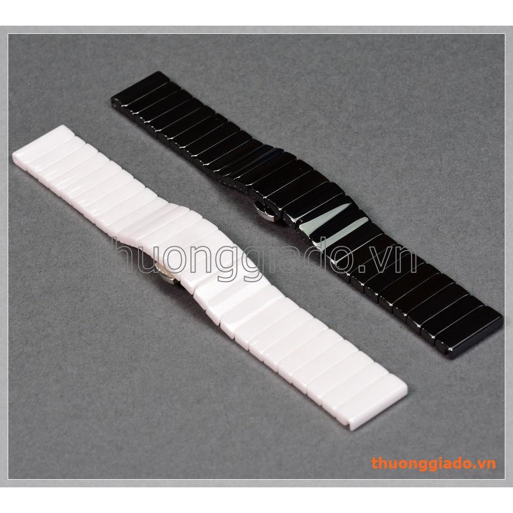 Dây đồng hồ Samsung Gear S2 classic (20mm, chất liệu gốm sứ, mỗi hàng dây 1 mắt)