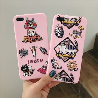 Oppo R9 R9s R11 R11s R15 Lovely Cartoon Pink Cat Animal Soft Case Cover