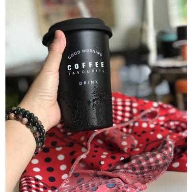 LY CAFE GIỮ NHIỆT BẰNG INOX CÓ NẮP ĐẬY ĐỘC ĐÁO
