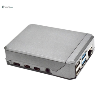 Suitable for Raspberry Pi 4B Aluminum Alloy Case Passive Heat Dissipation Metal Argon NEO CASE Sliding Magnetic Design