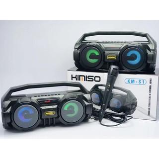 [UP TO SALE 50%] Loa Kimiso S1 có mic - {Tặng mic có dây}Loa Karaoke Bluetooth xách tay - Loa Kéo Karaoke