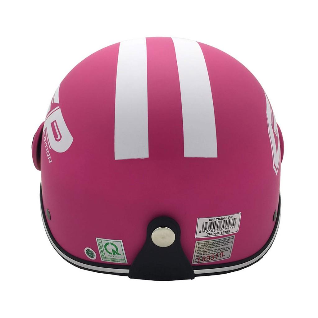 Mũ bảo hiểm nửa đầu có kính Chita CT6B1K, tem hình GP Edition, thời trang, năng động