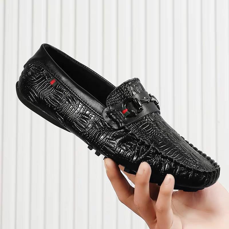Giày da nam ,vân cá sấu ,đế cao su êm được khâu chắc chắn ,mẫu giày nam mới nhất 2020