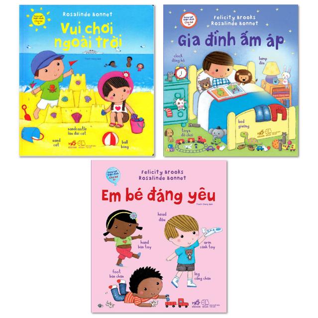 [FREE SHIP từ 99k] Bộ 3 cuốn - Song ngữ Việt-Anh cho bé 1+: Vui chơi ngoài trời; Em bé đáng yêu; Gia - 2997801 , 876418789 , 322_876418789 , 138000 , FREE-SHIP-tu-99k-Bo-3-cuon-Song-ngu-Viet-Anh-cho-be-1-Vui-choi-ngoai-troi-Em-be-dang-yeu-Gia-322_876418789 , shopee.vn , [FREE SHIP từ 99k] Bộ 3 cuốn - Song ngữ Việt-Anh cho bé 1+: Vui chơi ngoài trời; E