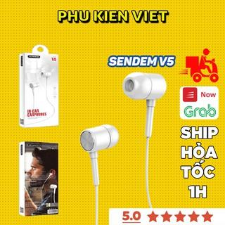 Tai Nghe SENDEM V5 Sports Siêu Bass - Có Mic - Siêu cách âm cho Xiaomi Samsung iPhone HÀNG CHÍNH HÃNG - Phụ Kiện Việt
