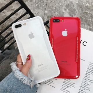 Simple Case Iphone X XR XSMax 6S 7 6plus 7plus 8plus Acrylic Imitation Glass Anti-fall Back Cover