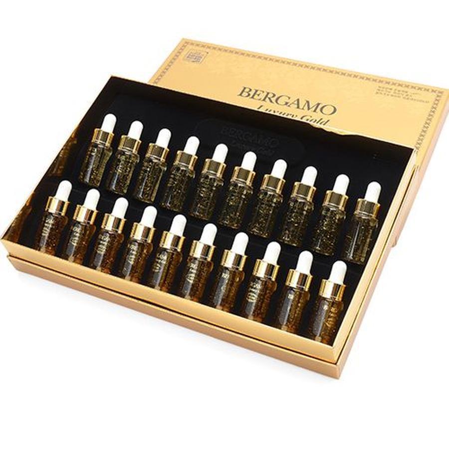 Bộ tinh chất dưỡng chống nhăn và làm sáng da Bergamo Luxury Gold Collagen Serum & Caviar 13ml x 4, 1