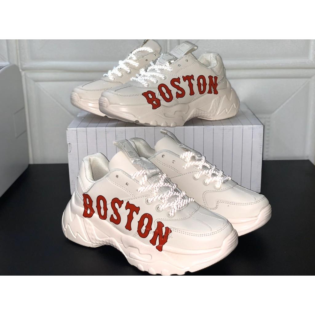 [HOT TREND] GIÀY SNEAKER NỮ MLB PHỐI CHỮ ĐỎ BOSTON SIÊU NGẦU