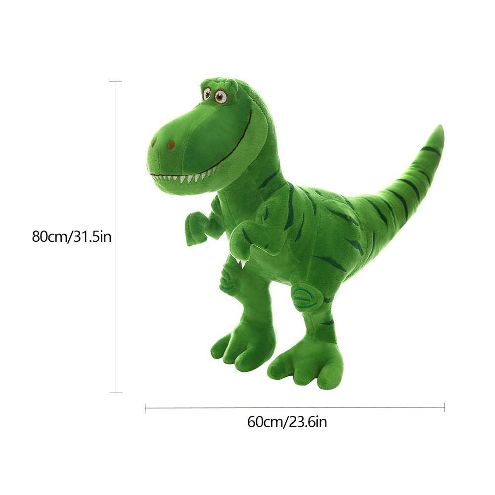Bed Time Stuffed Animal Toys, Cute Soft Plush Tyrannosaurus Dinosaur Figure - Green