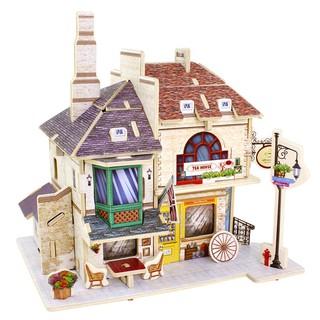 Mô hình nhà gỗ lắp ghép theo khớp Tea House F135 Robotime