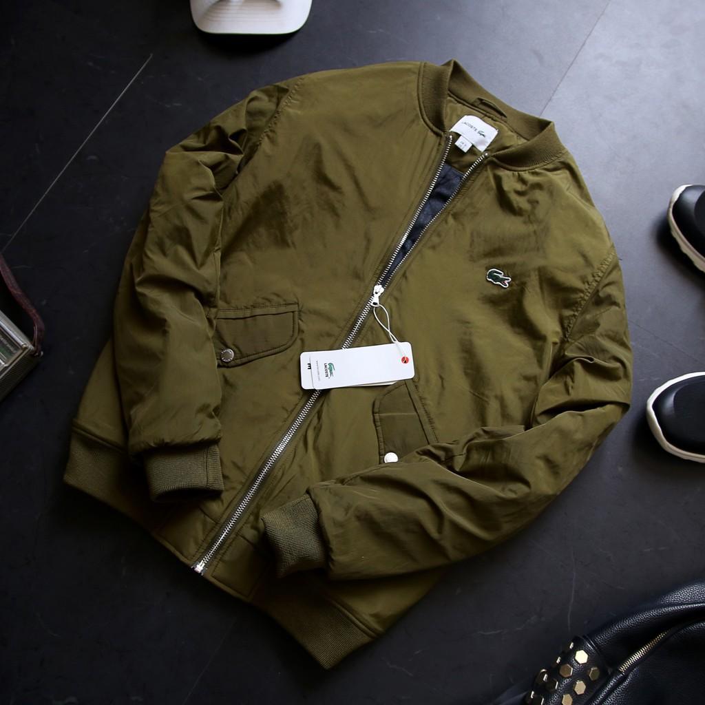Áo khoác hiệu cá sấu gió trần bông 3 lớp - Áo khoác phao - Áo bmber