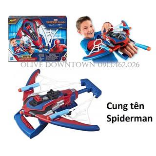 HỘP Bộ Cung tên kèm 3 phi tiêu – Spiderman Webshots Spider Bolt Nerf – Hàng VNXK HASBRO