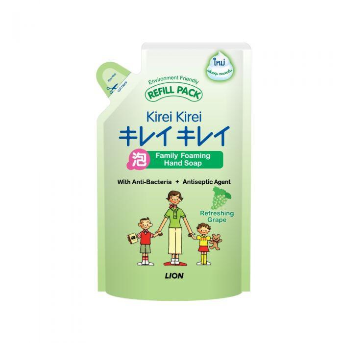 Bọt rửa tay Kirei Kirei hương nho (túi thay thế 200ml)