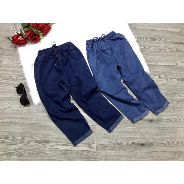 Quần baggy dài nữ jeans giấy cạp chun vnxk - 3419245 , 1120044595 , 322_1120044595 , 200000 , Quan-baggy-dai-nu-jeans-giay-cap-chun-vnxk-322_1120044595 , shopee.vn , Quần baggy dài nữ jeans giấy cạp chun vnxk