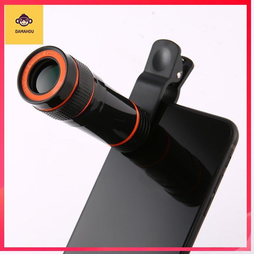 【TRONG KHO 】Portable Monocular Telescope Long Focus Lens For Digital Camera & Mobile Phone